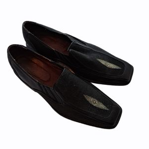 •J.M. WESTON exotic loafers•
